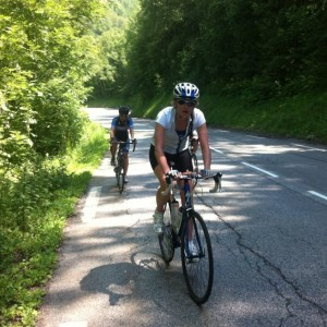 A week long cycling holiday in the Alps prior to the race definitely helped me up the Isle of Wight hills!